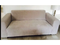 Ex Display show Home 3 seater silver grey sofa