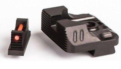 Zev Technologies Sight Set  215 Fiber Optic Front   Combat V3 Black Rear Sights