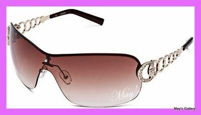 Guess  Sun Glasses Glass SunGlasses Eyewear Brown Gold Rimless   GU 6509 W (Guess Rimless Glasses)