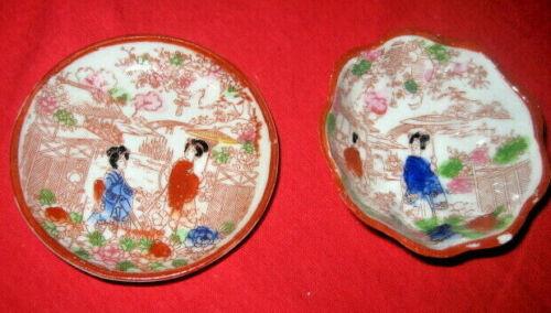 /Japan JAPANESE CUP SAUCER lot of 2, ww2 era