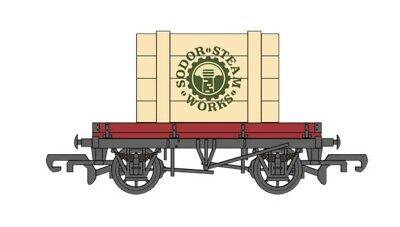 BACHMANNHOHO Thomas & Friends Plank Wagon w/Sodor Steam Works Crate BAC77404