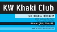 Hall Rental & Recreation Space Available