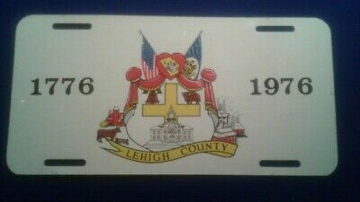 1976 LEHIGH COUNTY PA. BICENTENNIAL BOOSTER License Plate for sale  Riverside