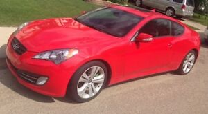 2010 Hyundai Genesis Coupe 3.8L V6 Red