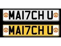 Man u number plates for sale