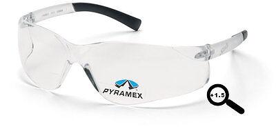 Bifocal 1.5 Pyramex Ztek Clear Safety Glasses Lot Of 3