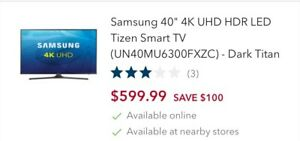 "40"" Samsung LED Tv - Save over $300!!"