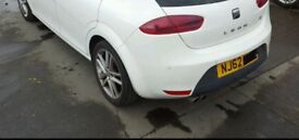 SEAT LEON FR REAR BUMPER WITH PARKING SENSORS