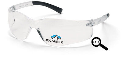 Bifocal 1.5 Pyramex Ztek Clear Safety Glasses Lot Of 6