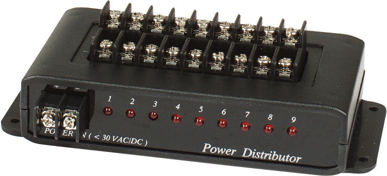 1 Input to 9 Output Power Distribution Box PD009