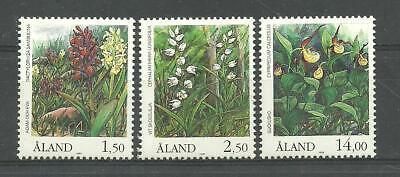 ALAND ORCHIDS - Åland Islands Flowers set 1989 MNH