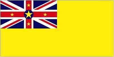Niue 5ft x 3ft Flag Niuean Pacific Island National Flag New Zealand - 2 Eyelets