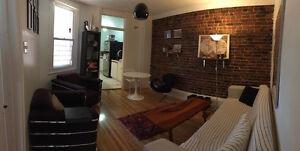 Appartement avec 3 chambres- 5 1/2 meublé a loué. Laveuse et séc
