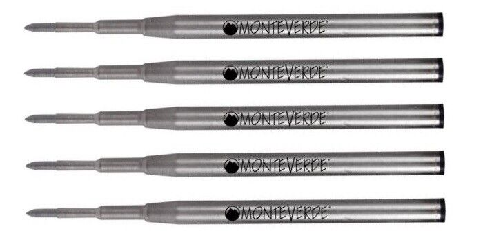 5 – MONTEVERDE Ballpoint Montblanc Style Pen Refill – GEL INK, BOLD POINT, BLACK Business & Industrial