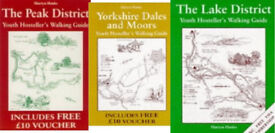 Series of 3 books for walkers : The Peak District, Yorkshire Dales, Lake District