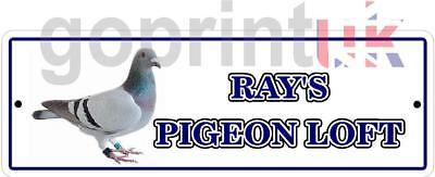Personalised pigeon loft room etc garden shed sign plaque