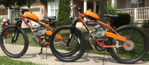 Motorized Fat Wheel Gas Bikes  from $600 & UP !