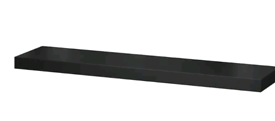 Ikea EKBY TONY - Shelf, high-gloss black