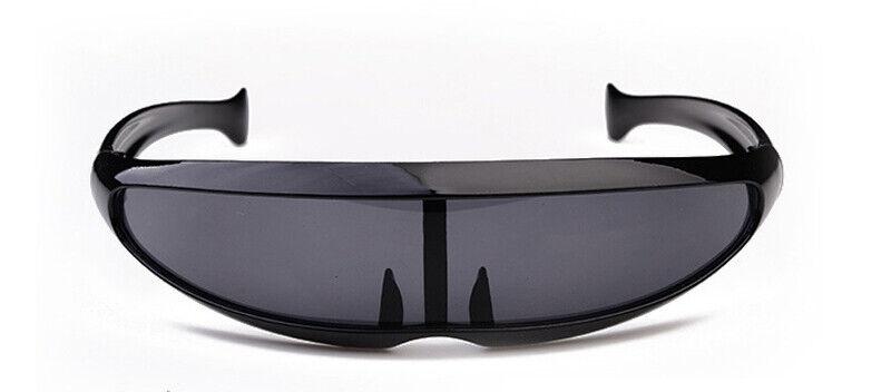 Schwarz Brille Sonnenbrille UV400 Cyclops Kostüm Cyborg Roboter