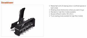 Bobcat 48 inch Snow Blower attachment