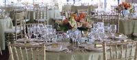 Location de matériel pour réception: nappes, housses de chaise