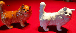 Pair of Beswick Porcelain Cats Figurines