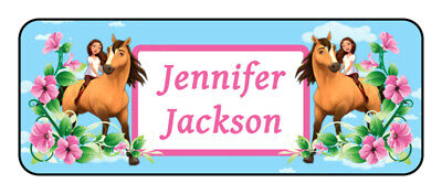 30 personalized horse name tag stickers, tags, school supply labels