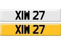 XIW 27 Dateless Personalised Cherished Number Plate Audi BMW M3 Ford VW Mercedes Kia Vauxhall