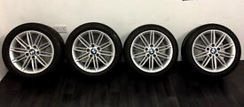 BMW, M-Sport - Alloys and Tryres, 17 inch with tyres