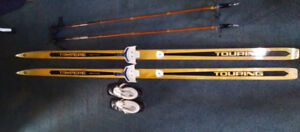 Cross country ski/ poles and shoes