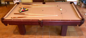 8 ft Slate Pool Table for Sale, Excellent Condition
