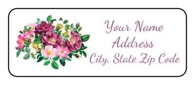 30 Floral Return Address Labelspersonalizedflowersrosesstickerstagsshower