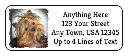 60 Yorkie #24 Yorkshire Terrier Dog GLOSSY Photo Quality Return Address Labels