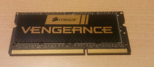 One Corsair 8GB RAM Laptop Memory