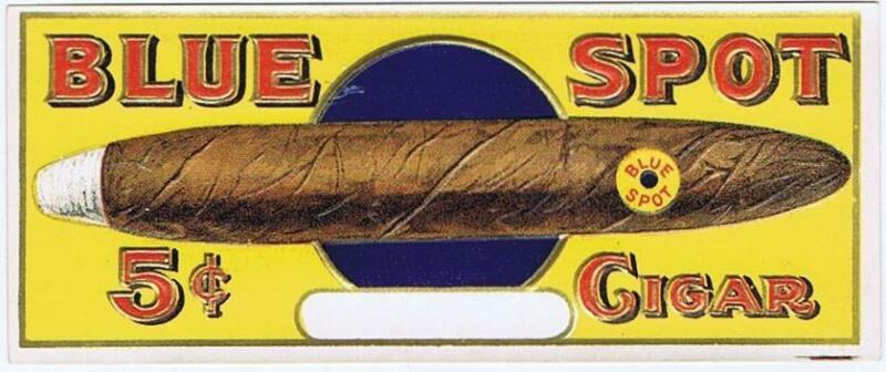 Blue Spot  original outer cigar box label large cigar