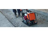 Wacker plate compactor and operator hire driveway paving digger dumper landscaper ground worker