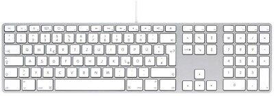 Apple Mac Usb (Apple Tastatur Keyboard mit Ziffernblock USB Mac Deutsch QWERTZ MB110D/B  A1243)