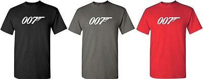 007 James Bond Tshirt Movie Retro logo Tee Funny Shirt S-5XL Funny Logo Tees
