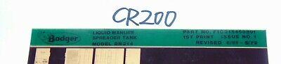 Microfiche Badger Farm Equipment Parts List-liquid Manure Spreader Tank Bn214