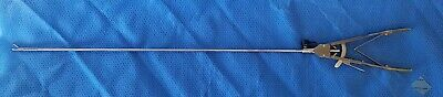 Laparoscopic Axial Handle Needle Holder Wirrigation Jaws Curved Righttc 45cm