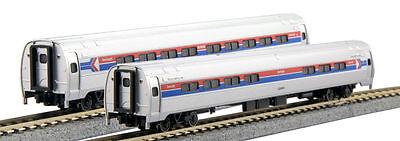 Kato N Scale 106-8013 Amtrak Amfleet I Phase I Coach-Cafe Two Car Set B New! ()