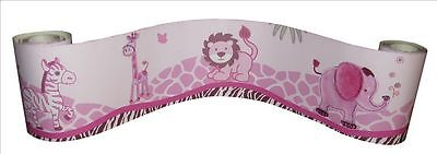 (Wall Border For Pink Safari Baby Bedding Set By Sisi)