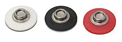 YKK SNAD Flex Push & Revolving Fastener Bottom Cap 25mm White