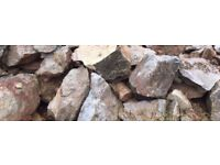 FREE--ASSORTMENT OF ROCKERY ROCKS.--FREE.