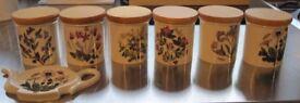Portmeirion spice jars