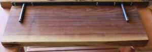 Mennonites Handcrafted Solid Wood Live Edge Floating Shelves For Your Home Decoration Projects