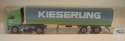 Herpa 1/87 Volvo F12 Sattelzug Pritsche/Plane EKB Kieserling Bremen #7822