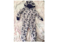 2xbaby boy play suits brand new sizes 0-3m and 2-6m
