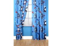 "Thomas The Tank Engine Pair of Curtains, 66""x 72"" Used in Perfect Condition"