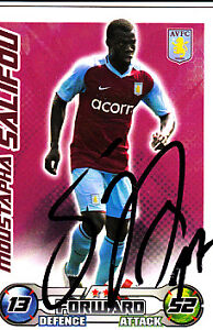Aston Villa F.C Moustapha Salifou Hand Signed 08/09 Championship Match Attax.